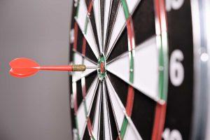 dartboard on target